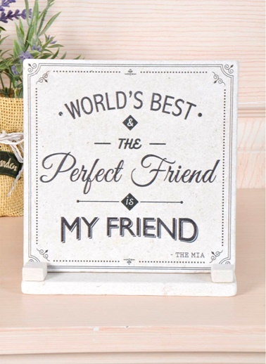 Plaket Mermer - Friend-The Mia